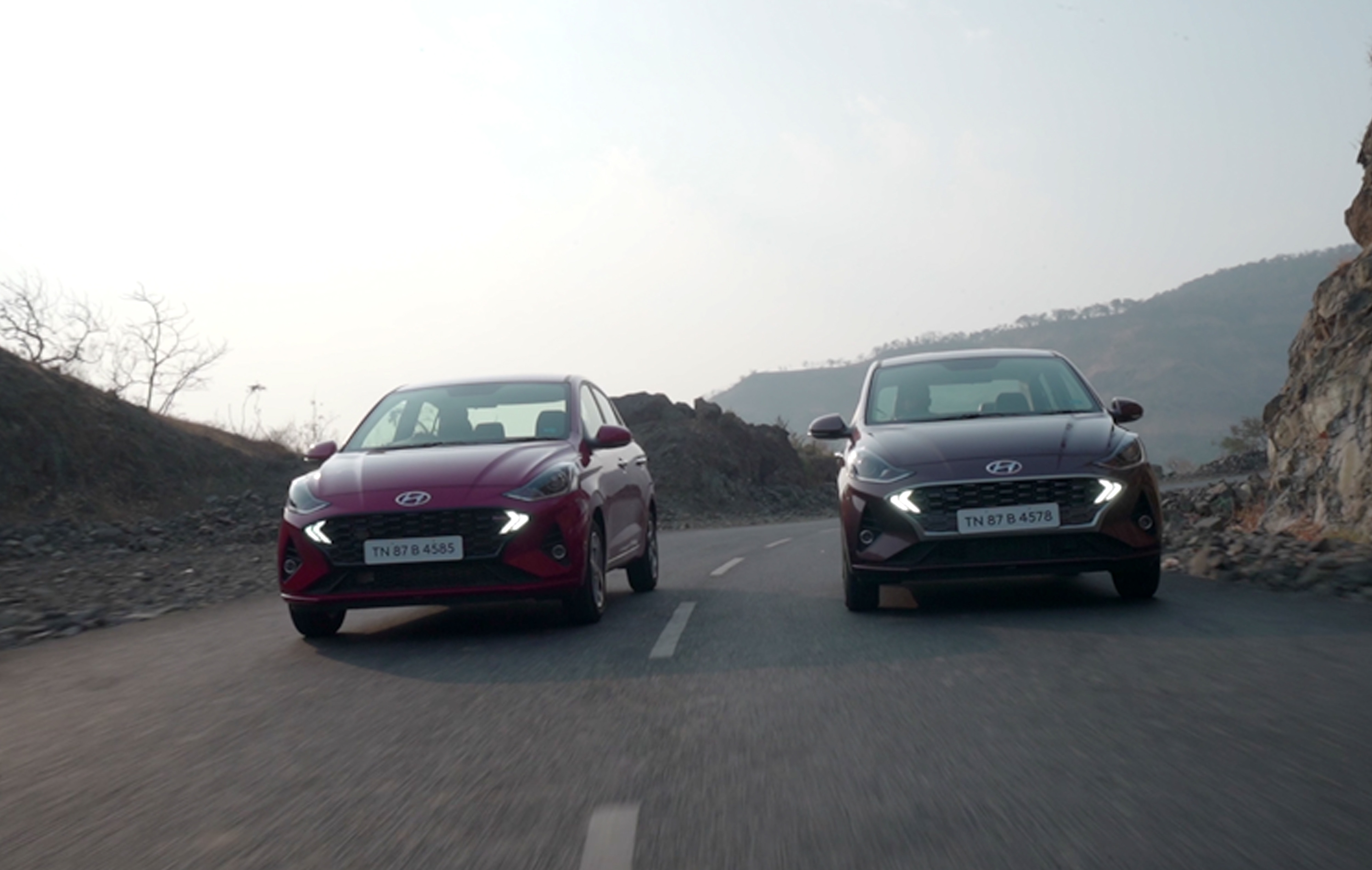 The Hyundai Aura is offered in a 1.2 litre petrol, a 1.2-litre diesel and a 1.0 litre turbo petrol option.  There is also an option of a factory-fitted CNG. All engines are BS 6 compliant.