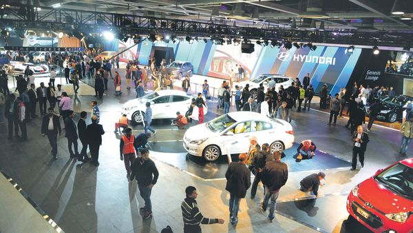 A file photo of Auto Expo being held in Greater Noida. (MINT_PRINT)