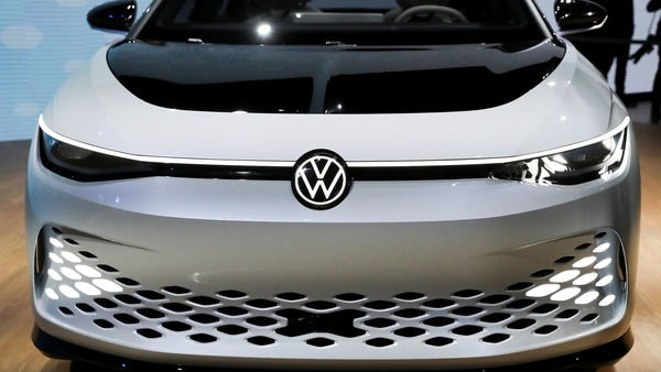 FILE PHOTO: A Volkswagen I.D. Space Vizzion concept is displayed at the LA Auto Show in Los Angeles, California, U.S., November 20, 2019. REUTERS/Lucy Nicholson/File Photo (REUTERS)