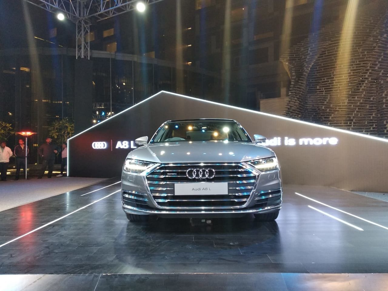 The Audi A8 L is equipped with a 10Ah lithium ion battery that helps the car cruise for up to 40 seconds with the ignition off - at anywhere between 55 kmph and 160 kmph.