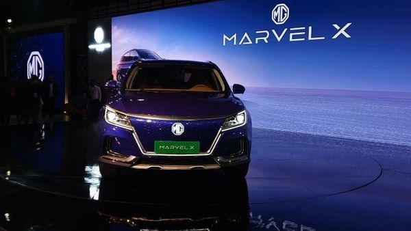 The Marvel X showcased by MG Motor at Auto Expo 2020. (HT Auto photo)