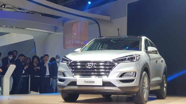 The Tucson launched by Hyundai at the Auto Expo on Wednesday.