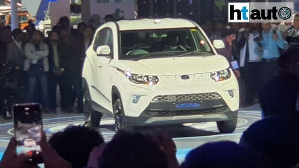 The e-KUV100 launched by Mahindra and Mahindra at Auto Expo 2020.