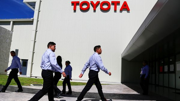 Employees walk at the Toyota Motor Corp new plant in Apaseo El Grande in Mexico's central state of Guanajuato, Mexico February 6, 2020. REUTERS/Sergio Maldonado (REUTERS)