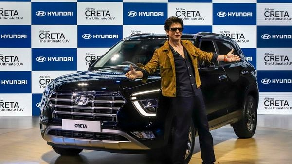 Bollywood actor Shah Rukh Khan unveiled the all-new Creta at Auto Expo 2020. (PTI)