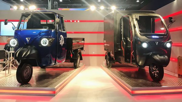Singha and Singha Max from Omega Seiki are electric cargo three-wheelers.