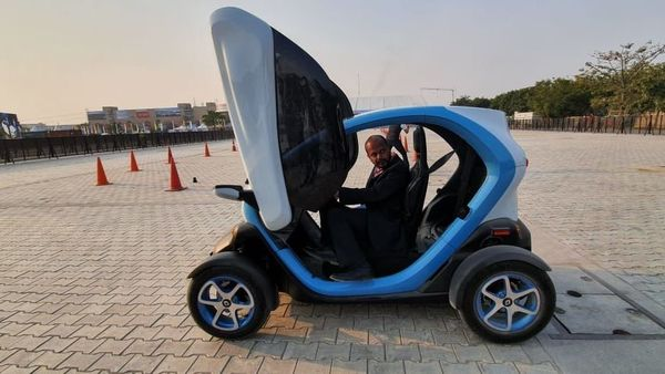 Renault Twizy brought to India by French carmaker Renault.