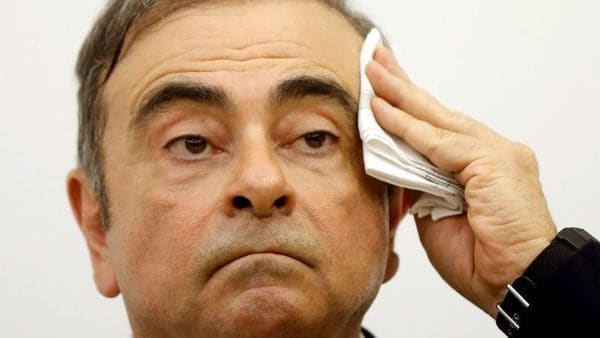 FILE PHOTO: Former Nissan chairman Carlos Ghosn gestures during a news conference at the Lebanese Press Syndicate in Beirut, Lebanon January 8, 2020. REUTERS/Mohamed Azakir/File Photo (REUTERS)
