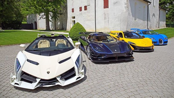 Here is a sample of Teodorin Obiang's collection of supercars. (Photo courtesy: Twitter/@Earlsimxx)
