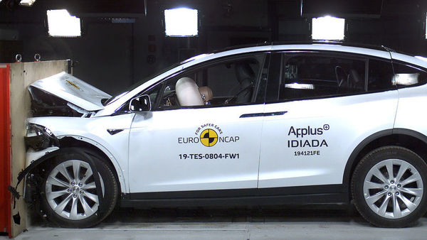 Tesla Model X being tested by ANCAP for safety ratings. (Photo courtesy: ancap,com.au)