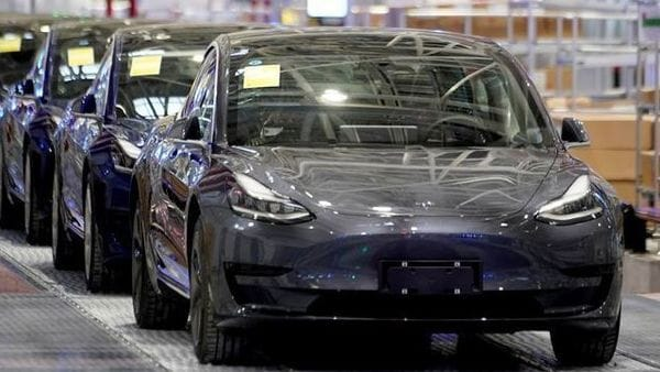 Tesla China-made Model 3 vehicles are seen during a delivery event at its factory in Shanghai, China January 7, 2020. REUTERS/Aly Song/Files (REUTERS)