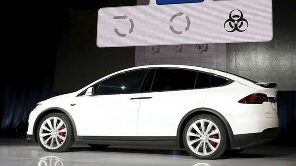 FILE PHOTO: A Tesla Model X electric sports-utility vehicle is displayed during a presentation in Fremont, California September 29, 2015. REUTERS/Stephen Lam (REUTERS)