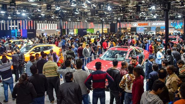 Greater Noida: Visitors at the Great Wall Motors pavillion during the Auto Expo 2020, in Greater Noida, Saturday, Feb. 8, 2020. (PTI Photo) (PTI2_8_2020_000285A) (PTI)