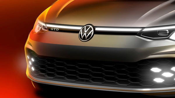 Teaser image of the new Golf GTD released by Volkswagen