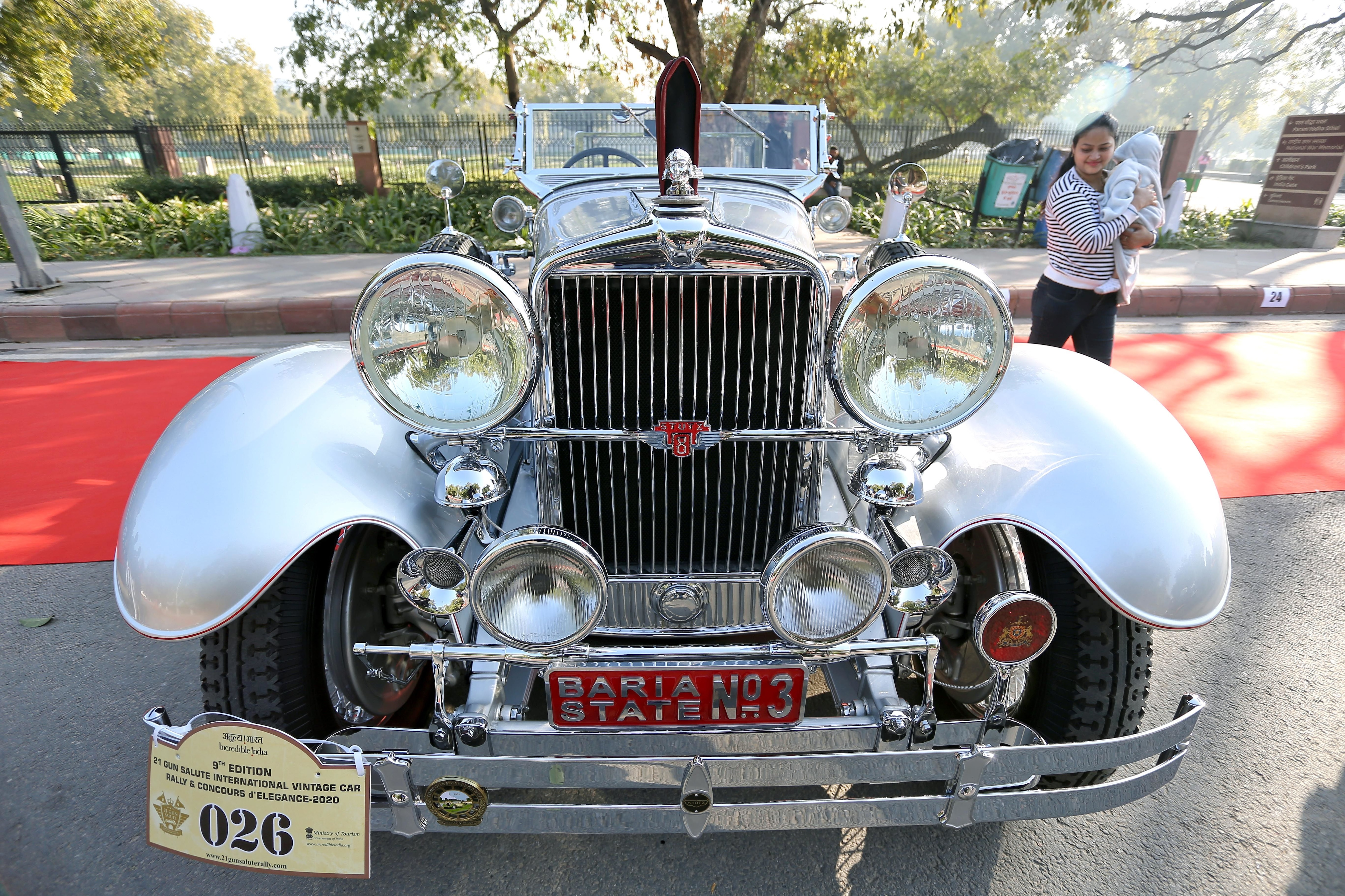 More than 150 vintage cars were parked in front of the Amar Jawan Jyoti which made for a stunning view along with 34 esteemed judges from around the globe.