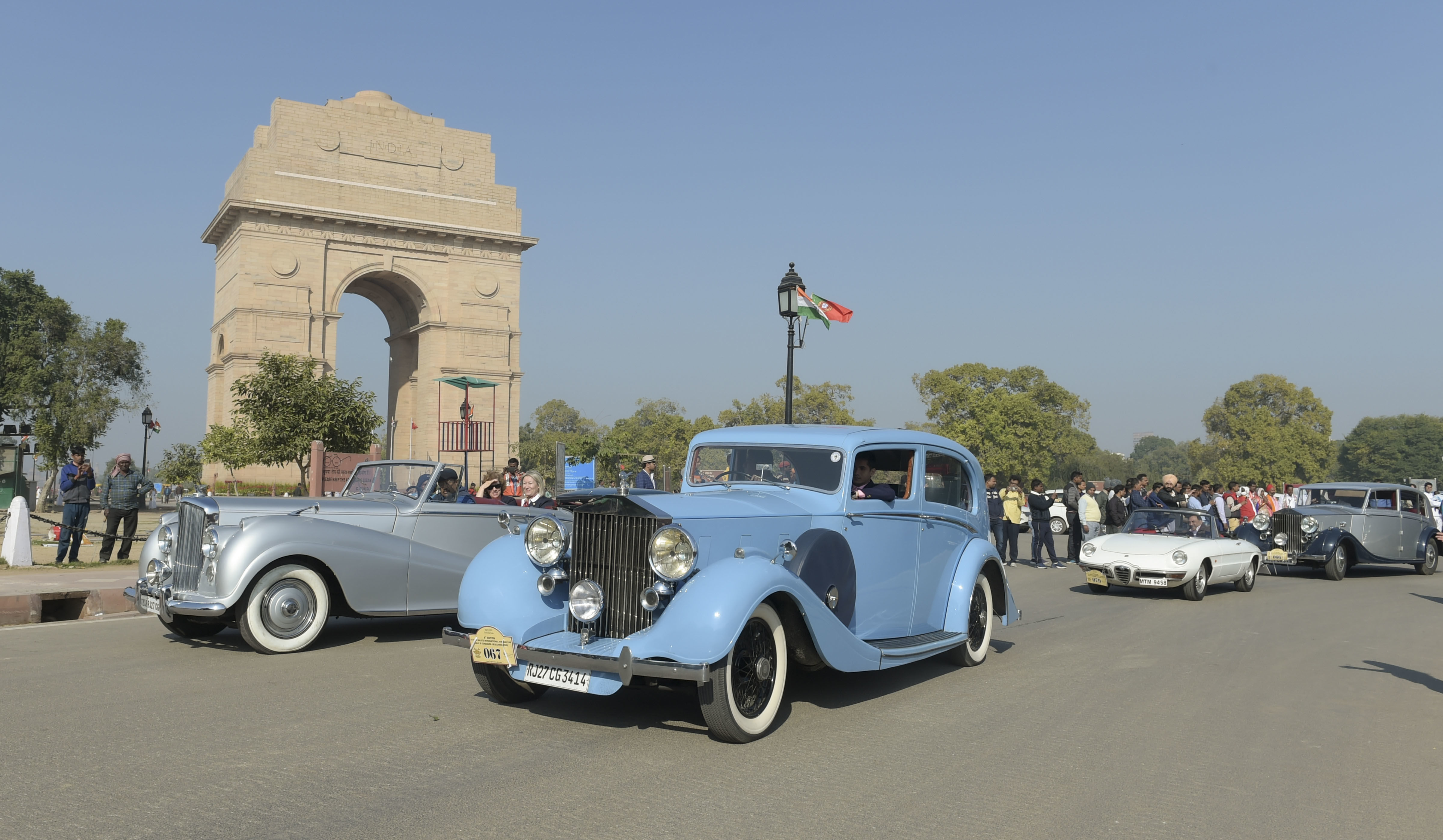 Organised in association with the Ministry of Tourism, the 21 Gun Salute International Vintage Car Rally & Concours d'Elegance marked its beginning with a flag off from the India Gate. (PTI)