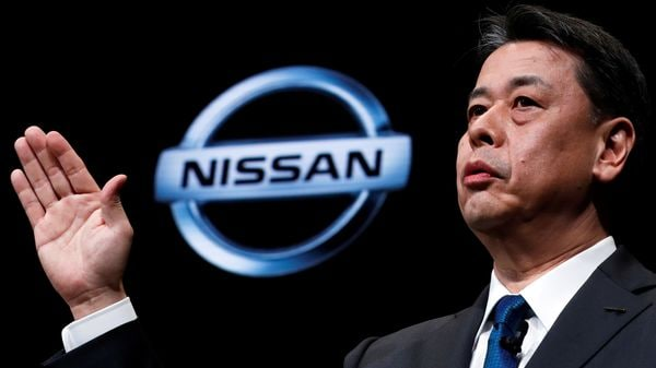 FILE PHOTO: Nissan Motor's chief executive Makoto Uchida gestures as he speaks during a news conference at Nissan Motor's headquarters in Yokohama, Japan, December 2, 2019. REUTERS/Kim Kyung-Hoon/File Photo (REUTERS)