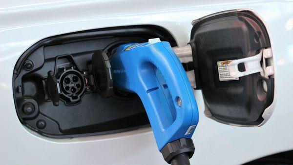 Representational image of an electric car charging
