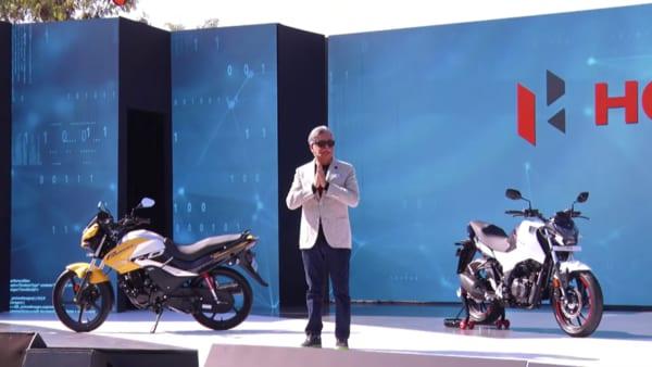 Hero MotCorp Chairman Pawan Munjal speaking at the Hero World 2020 event in Jaipur