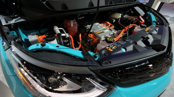 The engine of an electric 2020 Chevrolet Bolt. (REUTERS)