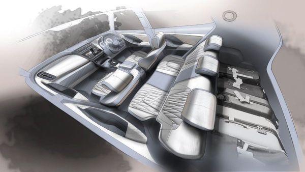 Hyundai revealed sketches of how the interior of the new 2020 Hyundai Creta will look like