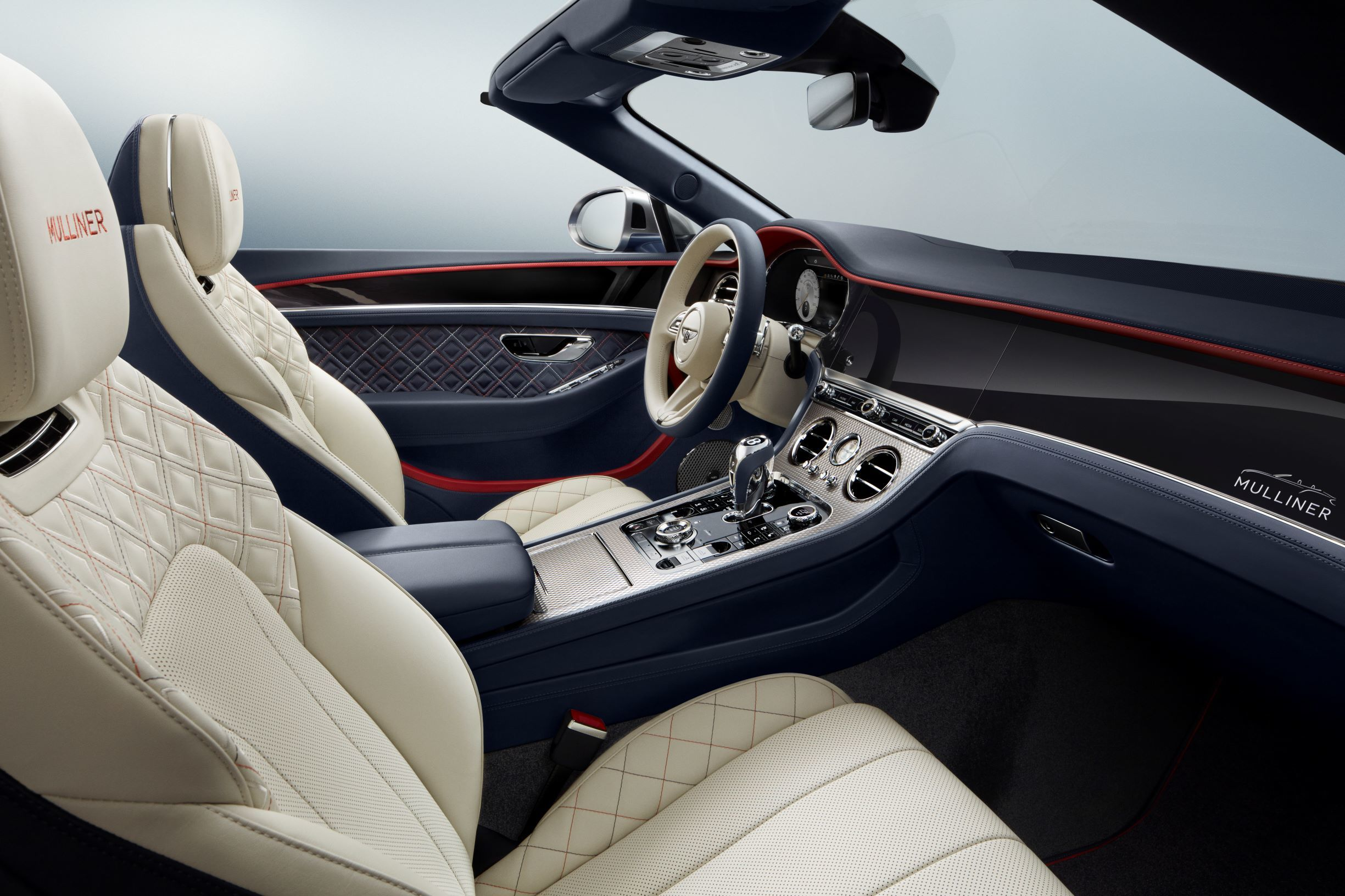 A view of the interior design of Continental GT Mulliner Convertible