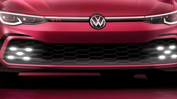 Volkswagen teased this image of the new Golf GTI