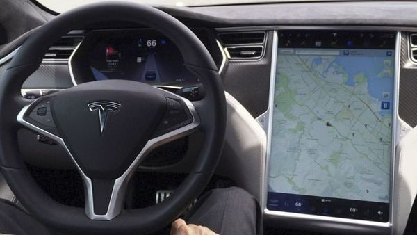 File photo: The interior of a Tesla Model S is shown in autopilot mode in San Francisco. (REUTERS)
