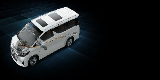 The Vellfire makes use of a gasoline hybrid engine which ensures a strong drive performance.