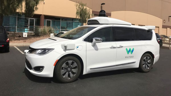 FILE PHOTO: A Waymo self-driving vehicle is parked outside the Alphabet company's offices where its been testing autonomous vehicles. (REUTERS)