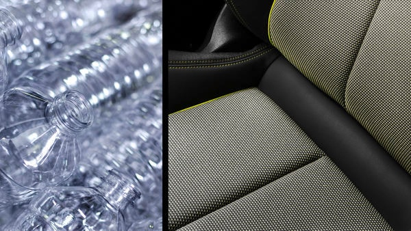 From bottle to fabric: Seat upholstery made of PET bottles