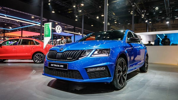 Skoda Octavia RS 245 at Auto Expo 2020. (HT Auto photo)