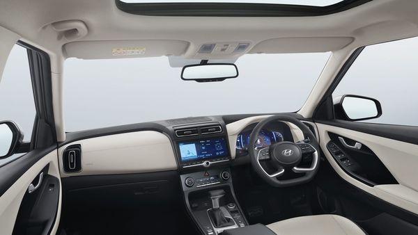 The interiors of the new Creta from Hyundai.