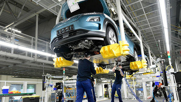 File photo of a Kona Electric in production