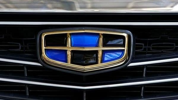 A logo of Geely automobile company is seen on a car at the Belarusian-Chinese closed joint-stock company BelGee plant in Zhodino, Belarus. (REUTERS)