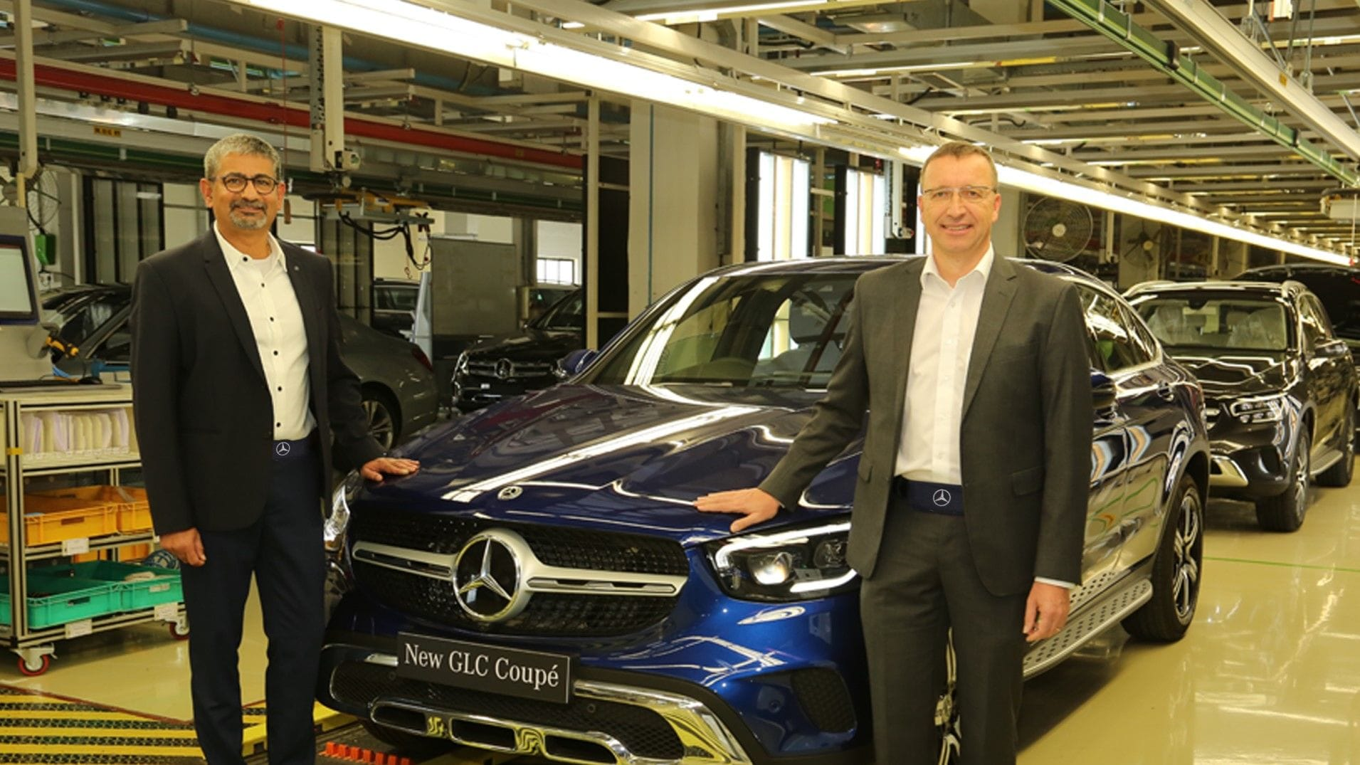 Mercedes-Benz India launched the sporty GLC Coupe SUV at  <span class='webrupee'>₹</span>62.70 lakh for the petrol variant and  <span class='webrupee'>₹</span>63.70 lakh for the diesel. It is the 10th product from the company through the CKD route in India.