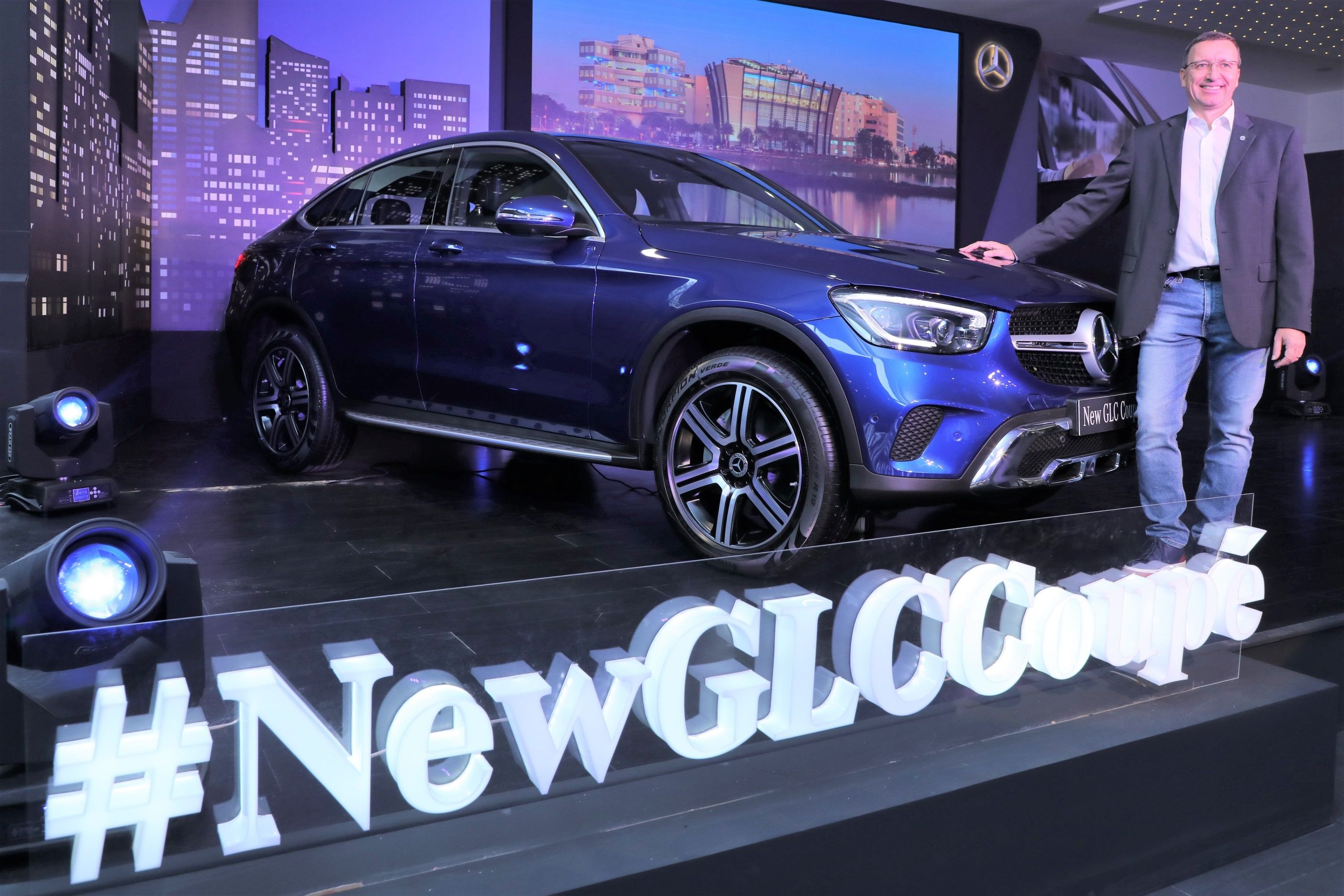 The all-new GLC Coupe has a premium cabin with a 10.25 touchscreen, 64-colour ambient lighting, large one-piece dash and a fully-digital 12.3-inch instrument cluster.