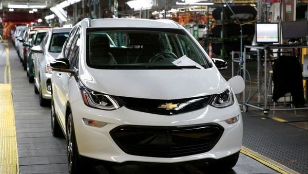 File photo of a Chevrolet Bolt EV vehicle seen on the assembly line at General Motors Orion Assembly in Lake Orion, Michigan, US. (REUTERS)