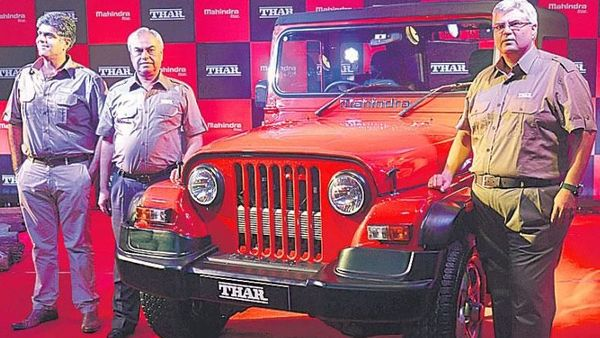 Current Mahindra Thar picture used for representational purpose.