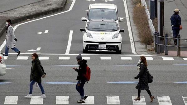 FILE PHOTO: A self-driving vehicle, based on Nissan Leaf electric vehicle (EV), for Easy Ride service. (REUTERS)