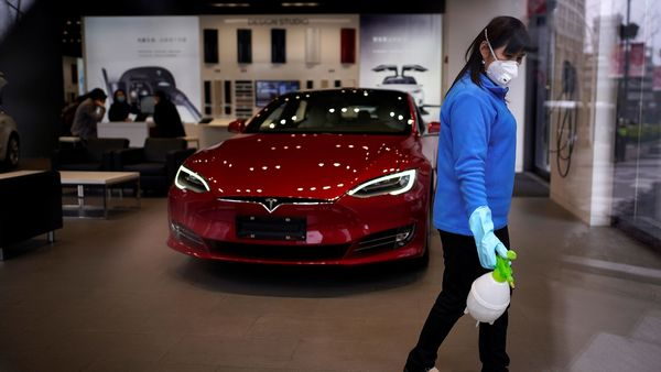 Another reason for quicker auto sales rebound in China could be the fear psychosis caused by Covid-19 that pushes more and more people to take up personal mobility.  (REUTERS)