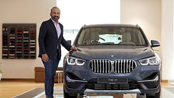The new X1 from BMW launched by Rudretej Singh, President and CEO, BMW Group India.