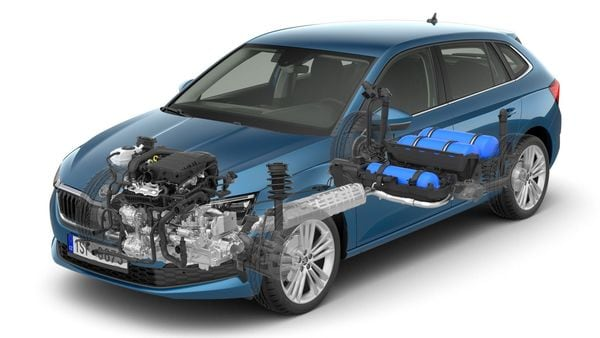 Skoda Scala has three CNG tanks with a capacity of 13.8 kilograms and an additional nine-litre petrol tank.