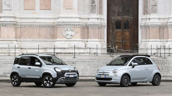 File photo of new Fiat Panda and Fiat 500 mild-hybrid cars in Italy. (REUTERS)