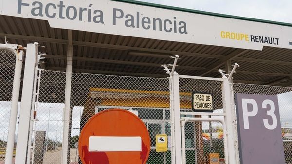 The Villamuriel Renault factory in Villamuriel, Palencia, after its closure in light of the novel coronavirus outbreak. File photo (AFP)