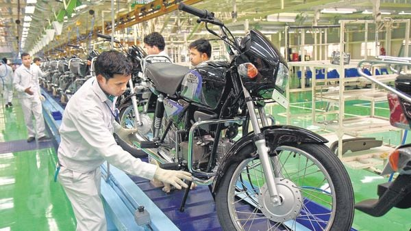 Two-wheeler manufacturers Hero MotoCorp and TVS Motor had already announced a 10% cut in production for February due to the shortage of supplies of components. (MINT_PRINT)