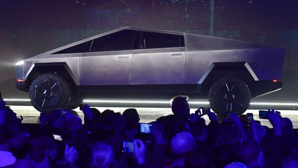 File photo of the original Cybertruck unveiled by Tesla. (AFP)