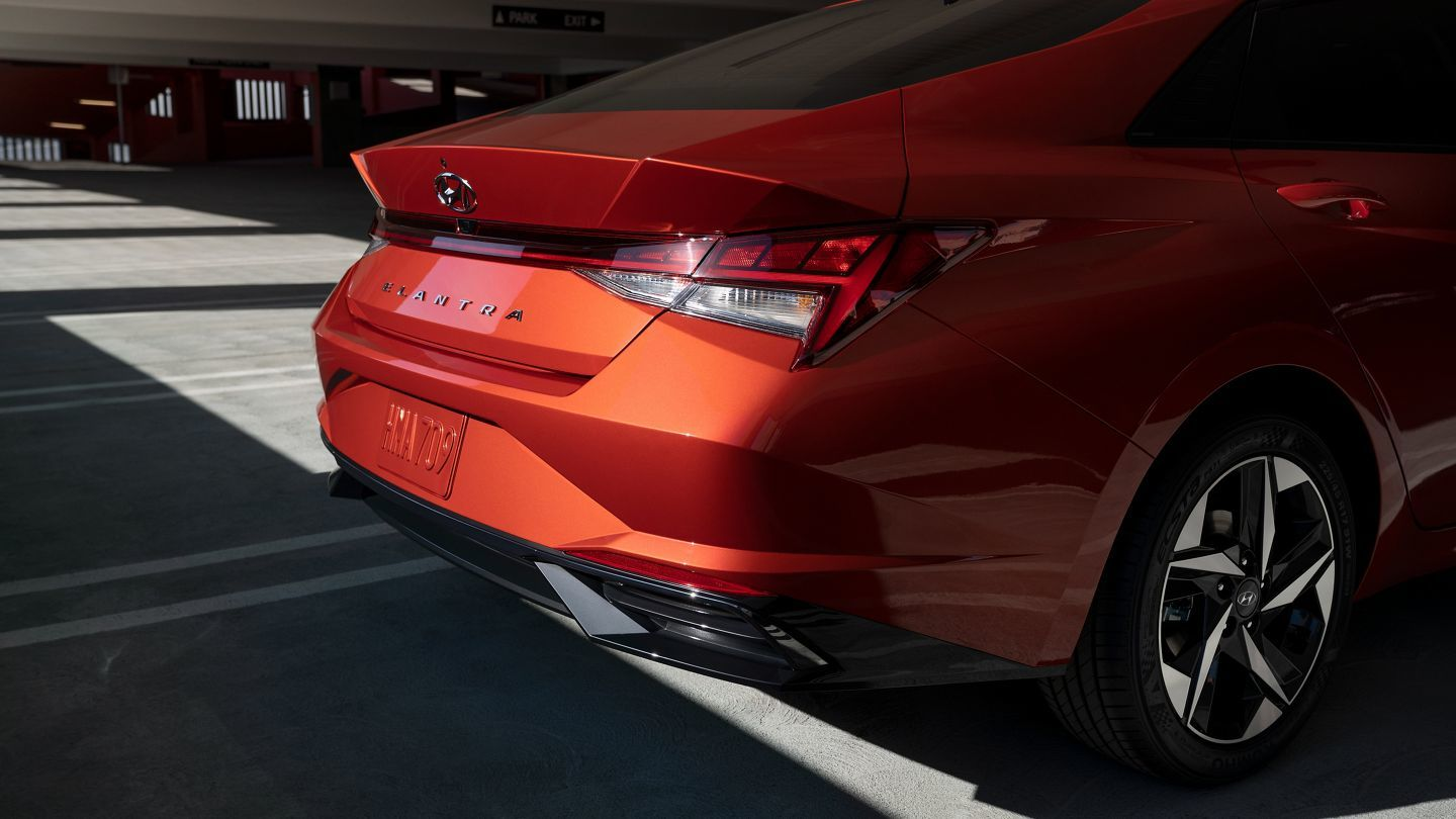 On the rear, there are integrated spoilers and distinctive 'H-Tail' style taillights.