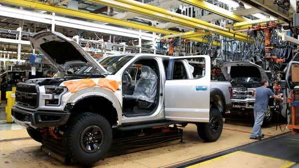 File photo of a Ford 2018 F-150 pick-up truck at the assembly line at Ford's Dearborn Truck Plant. (REUTERS)