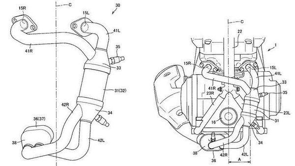 Suzuki's updated 250 cc parallel-twin engine patent.